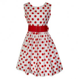 Pink Dress on Polka Dot Dress With Belt  Available In Black And White  Red And White